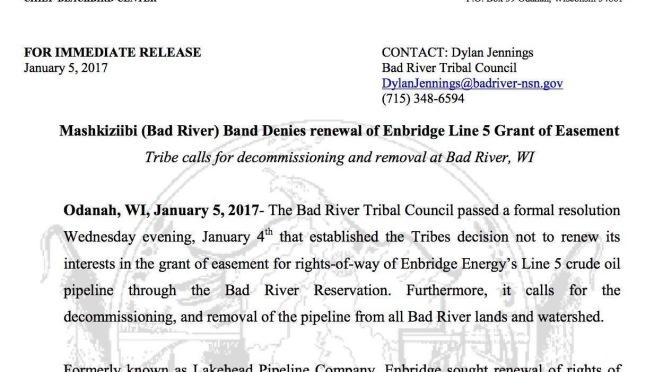 Embridge Denied Easement in Wisconsin