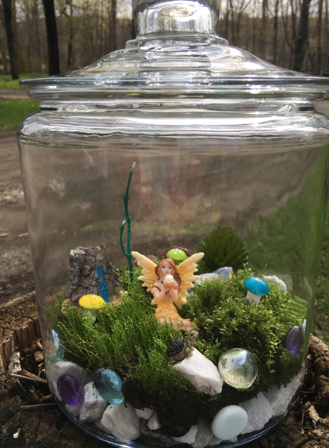 Fairy Garden in Covered Vase